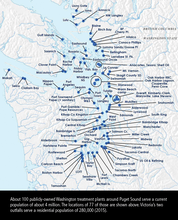 Map of Puget Sound WWTPs