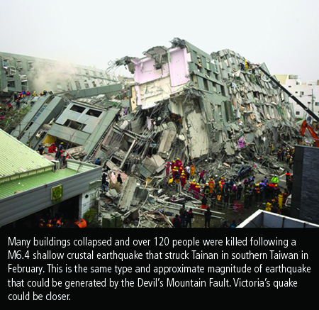 February 2016 Taiwan Earthquake damage