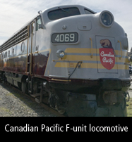 Canadian Pacific locomotive at Nanaimo