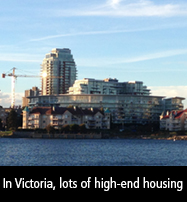 In Victoria, lots of high-end housing has been constructed